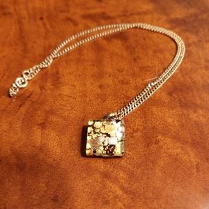 Murano glass charm necklace
